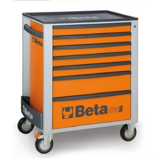 Beta C24S/7-O Mobile Roller Cab With 7 Drawers (Orange)